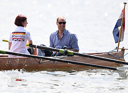 The Duke and Duchess of Cambridge take part in a rowing race in Heidelberg, Germany, on the 20th July 2017. 20 Jul 2017 Pictured: Prince William, Duke of Cambridge. Photo credit: James Whatling / MEGA TheMegaAgency.com +1 888 505 6342
