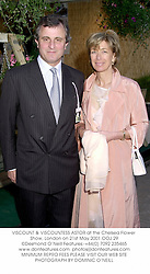 VISCOUNT & VISCOUNTESS ASTOR at the Chelsea Flower Show, London on 21st May 2001.OOJ 29