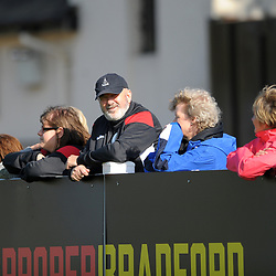 TELFORD COPYRIGHT MIKE SHERIDAN Telford fans during the National League North fixture between Bradford Park Avenue and AFC Telford United at the Horsfall Stadium on Saturday, August 31, 2019<br /> <br /> Picture credit: Mike Sheridan<br /> <br /> MS201920-014