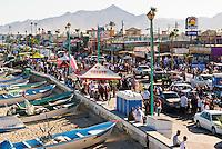 Crowded street during celebrations of 2008 San Felipe Baja 250, San Felipe, Baja California, Mexico