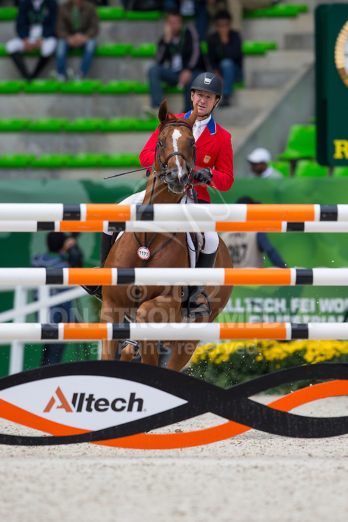 Mclain Ward, (USA), Rothchild - Team & Individual Competition Jumping Speed - Alltech FEI World Equestrian Games™ 2014 - Normandy, France.<br /> © Hippo Foto Team - Leanjo De Koster<br /> 02-09-14