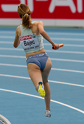 Dasa Bajec competes as a third Slovenia athlete during  the 4x400m Womens Relay Heats during day five of the 20th European Athletics Championships at the Olympic Stadium on July 31, 2010 in Barcelona, Spain.  (Photo by Vid Ponikvar / Sportida)