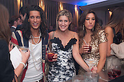 OLLIE LOCKE; CHESKA HULL; GABRIELLA ELLIS, The London Bar and Club awards. Intercontinental Hotel. Park Lane, London. 6 June 2011. <br /> <br />  , -DO NOT ARCHIVE-© Copyright Photograph by Dafydd Jones. 248 Clapham Rd. London SW9 0PZ. Tel 0207 820 0771. www.dafjones.com.