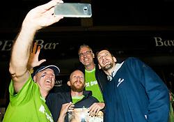 Gasper Vidmar of Slovenia at Fans' reception of Team Slovenia after the basketball match between National Teams of Slovenia and Greece at Day 4 of the FIBA EuroBasket 2017  in Teerenpeli bar, Helsinki, Finland on September 3, 2017. Photo by Vid Ponikvar / Sportida