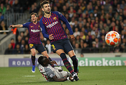 May 1, 2019 - Barcelona, Barcelona, Spain - Pique of Barcelona in action during UEFA Champions League football match, between Barcelona and Liverpool, Mayl 01th, in Camp Nou stadium in Barcelona, Spain. (Credit Image: © AFP7 via ZUMA Wire)