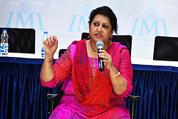 June 18, 2017 - Kolkata, West Bengal, India - Theater legend and actress Nadira Babbar during the workshop and interact with the 1st year students at IMI in Kolkata. (Credit Image: © Saikat Paul/Pacific Press via ZUMA Wire)