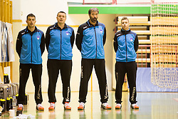 Veslein Vujovic, head coach of Slovenia during friendly handball match between National Teams of Slovenia and F.Y.R. of Macedonia before EHF EURO 2016 in Poland on January 4, 2015 in Sports hall Krsko, Krsko, Slovenia. Photo by Urban Urbanc / Sportida