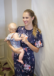 May 22, 2017 - Hollywood, California, U.S. - TERESA PALMER with her baby son promotes 'Berlin Syndrome.' Teresa Mary Palmer (born February 26, 1986) is an Australian actress, writer, producer and model who made her film debut in the suicide drama 2:37. She starred in the 2013 film Warm Bodies as a young woman who falls in love with a zombie, and as Rebecca in the 2016 horror film Lights Out. She has further appeared in films such as December Boys, The Sorcerer's Apprentice, I Am Number Four, Take Me Home Tonight, Love and Honor, The Ever After (which she co-wrote and co-produced with her husband), Kill Me Three Times, the 2015 remake of Point Break, Triple 9, The Choice, Hacksaw Ridge, 2:22 (2017), Berlin Syndrome (2017), Message from the King (2016),  (Credit Image: © Armando Gallo via ZUMA Studio)