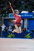 Francesca Rossetti atleta della società Arcobaleno Prato durante l'esercizio al corpo libero alla seconda prova del Campionato Italiano di Ginnastica Ritmica.<br /> La gara si è svolta a Desio il 31 ottobre 2015.