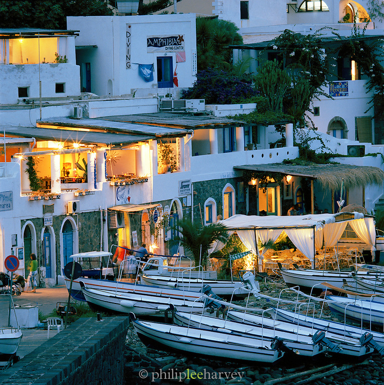 The harbour in Panarea, Aeolian Islands, Italy.