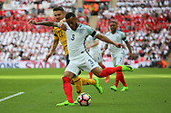 Ryan Bertrand of England crossing the ball during the FIFA World Cup Qualifier group stage match between England and Lithuania at Wembley Stadium, London, England on 26 March 2017. Photo by Matthew Redman.