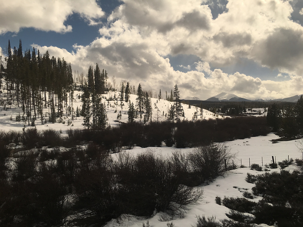 Amtrak Zephyr land scape view, Fraser, Colorado