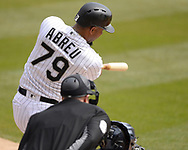 CHICAGO - APRIL 06:  Jose Abreu #79 of the Chicago White Sox bats against the Seattle Mariners on April 6, 2019 at Guaranteed Rate Field in Chicago, Illinois.  (Photo by Ron Vesely)  Subject:  Jose Abreu