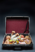 travel trunk with only dolls