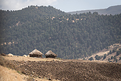 26 January 2019, Ethiopia: A farm sits on the hillside in the Bale Mountains, Ethiopia.