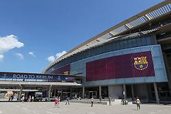 06.05.2015, Camp Nou, Barcelona, ESP, UEFA CL, FC Barcelona vs FC Bayern Muenchen, Halbfinale, Hinspiel, im Bild Eingang des Camp Nou // during the UEFA Champions League semi finals 1st Leg match between FC Barcelona and FC Bayern Munich at the Camp Nou in Barcelona, Spain on 2015/05/06. EXPA Pictures © 2015, PhotoCredit: EXPA/ Eibner-Pressefoto/ Schueler<br /> <br /> *****ATTENTION - OUT of GER*****
