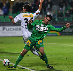 26.11.2011, Pappelstadion, Mattersburg, AUT, 1. FBL, SV Mattersburg vs SK Rapid, im Bild Nedeljko Malic, (SV Mattersburg, #4) vs Michael Schimpelsberger, (SK Rapid Wien, #36) during the Austrian Bundesliga Match, SV Mattersburg against SK Rapid, Stadium, Pappelstadion Mattersburg, Austria on 2011-11-26, EXPA Pictures © 2011, PhotoCredit: EXPA/ S. Woldron