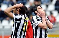 Delusione di Vincenzo Iaquinta e Amauri (Juventus)<br /> Torino 11/04/2010 Stadio Olimpico<br /> Juventus Cagliari - Campionato di Serie A Tim 2009-10.<br /> Foto Giorgio Perottino / Insidefoto