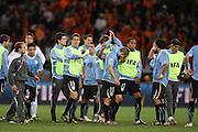 ©Jonathan Moscrop - LaPresse<br /> 06 07 2010 Cape Town ( Sud Africa )<br /> Sport Calcio<br /> Uruguay vs Olanda - Mondiali di calcio Sud Africa 2010 Semi finale - Stadio Punto Verde<br /> Nella foto: delusione dei giocatori dell'Uruguay a fine partita<br /> <br /> ©Jonathan Moscrop - LaPresse<br /> 06 07 2010 Cape Town ( South Africa )<br /> Sport Soccer<br /> Uruguay versus Holland - FIFA 2010 World Cup South Africa Semi final - Green Point Stadium<br /> In the photo: dejected Uruguay players pictured after the final whistle
