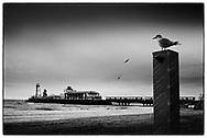 Bournemouth Pier and Beach, Dorset, England - October 2020