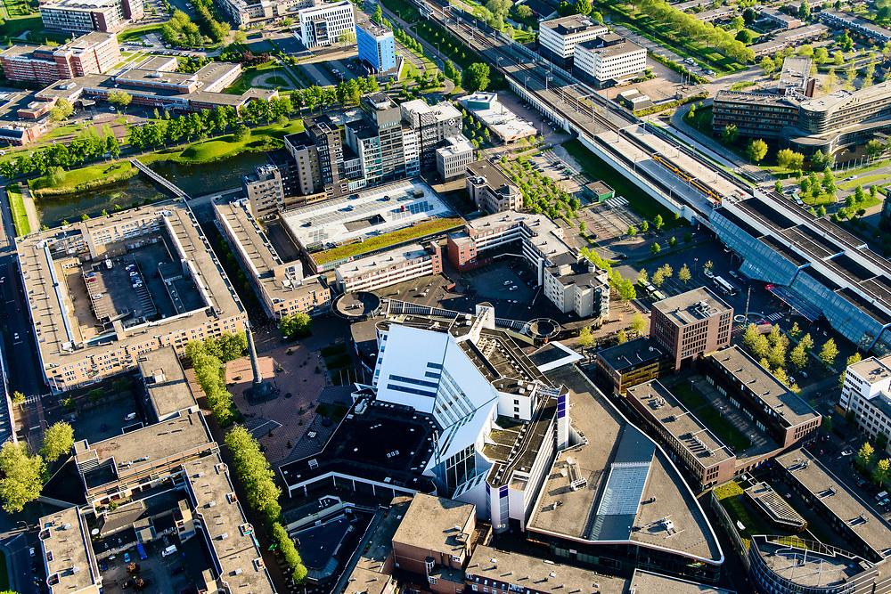 Nederland, Flevoland, Lelystad, 07-05-2018; Lelystad, IJsselmeerziekenhuis, MC Zuiderzee.<br /> Lelystad, general hospital.<br /> <br /> luchtfoto (toeslag op standard tarieven);<br /> aerial photo (additional fee required);<br /> copyright foto/photo Siebe Swart