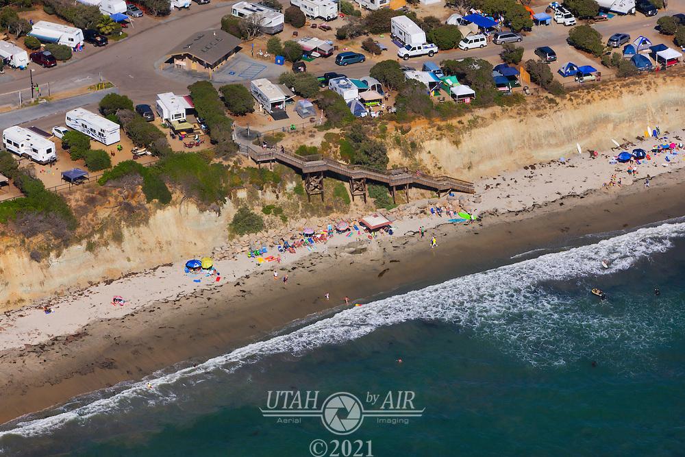 Beach on the California Coastline