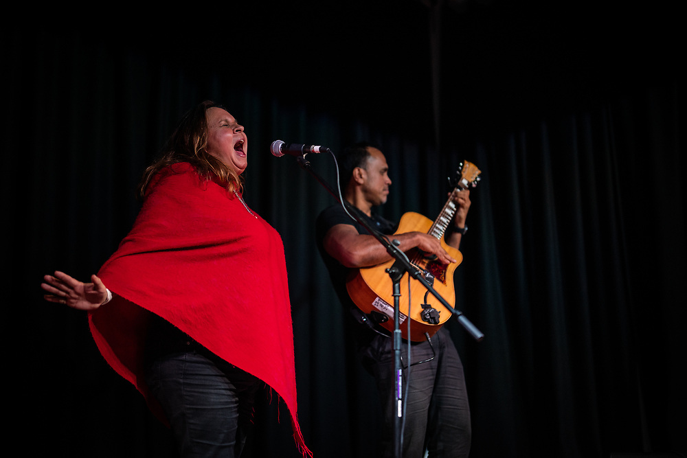 Performers at the Nanga Music Festival play at the Shenton Park Community Centre on Saturday October 10, 2020