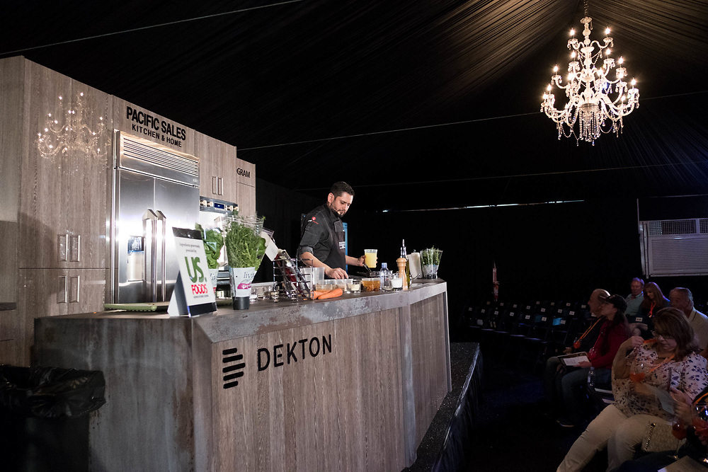 The 2018 Palm Desert Food and Wine Festival hosted by Palm Springs Life Magazine. Chef Nestor Ruiz gives a chef demo during the second day of Food & Wine. Photos by Tiffany L. Clark