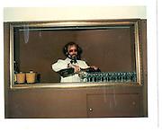 David Kirke at the Hamilton Gallery pouring drinks. The Dangerous Sports Club© Copyright Photograph by Dafydd Jones 66 Stockwell Park Rd. London SW9 0DA Tel 020 7733 0108 www.dafjones.com