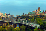 The Canadian Parliament building and Alexendra Bridge over the Ottawa River in Ottawa, Canada. This is near the home of Coco Simone Fincken, the veggie-teen featured in the book What I Eat: Around the World in 80 Diets.