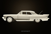 This painting of the Cadillac Eldorado Brougham production year 1957 in profile against a black background can be purchased in various sizes and printed on canvas as well as wood and metal. You can also have the painting finished with an acrylic plate over it which gives it more depth. This painting can be printed on a very large format –<br /> <br /> BUY THIS PRINT AT<br /> <br /> FINE ART AMERICA<br /> ENGLISH<br /> https://janke.pixels.com/featured/cadillac-eldorado-brougham-built-in-1957-black-and-white-jan-keteleer.html<br /> <br /> WADM / OH MY PRINTS<br /> DUTCH / FRENCH / GERMAN<br /> https://www.werkaandemuur.nl/nl/shopwerk/Cadillac-Eldorado-Brougham-gebouwd-in-1957/742754/132?mediumId=11&size=75x50<br /> <br /> -