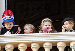 November 19, 2019, Monaco, Monaco: 19-11-2019 Monte Carlo Royal princely family during the Monaco national day celebrations in Monaco. Prince Jacques, Princess Gabriella of Monaco, Kaya Rose Wittstock, India Casiraghi (Credit Image: © face to face via ZUMA Press)