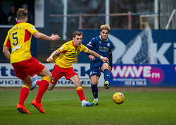 Dundee's Declan McDaid shoots. Dundee 2 v 0 Partick Thistle, Scottish Championship game played 8/2/2020 at Dundee stadium Dens Park.