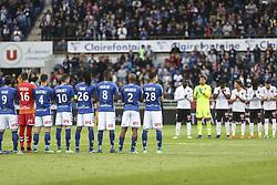 April 28, 2018 - Strasbourg, France - Racing Strasbourg vs Nice.during the French L1 football match between Strasbourg (RCSA) and Nice (OGC) on April 28, 2018 at the Meinau stadium in Strasbourg, eastern France. (Credit Image: © Elyxandro Cegarra/NurPhoto via ZUMA Press)