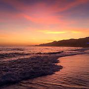 playazo beach at sunset