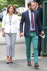 Carole and James Middleton arrived at Wimbledon for the federer semi final match. Grace Jones also made an appearance <br /><br />14 July 2017.<br /><br />Please byline: Vantagenews.com