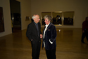 Leon Kossoff; Maggi Hambling. Francis Bacon opening private view and dinner. Tate Britain. 8 September 2008 *** Local Caption *** -DO NOT ARCHIVE-© Copyright Photograph by Dafydd Jones. 248 Clapham Rd. London SW9 0PZ. Tel 0207 820 0771. www.dafjones.com.