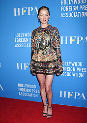 Hollywood Foreign Press Association's Annual Grants Banquet held at the Beverly Hilton Hotel on August 9, 2018 in Beverly Hills, CA. © Janet Gough / AFF-USA.com. 09 Aug 2018 Pictured: Amber Heard. Photo credit: Janet Gough / AFF-USA.com / MEGA TheMegaAgency.com +1 888 505 6342