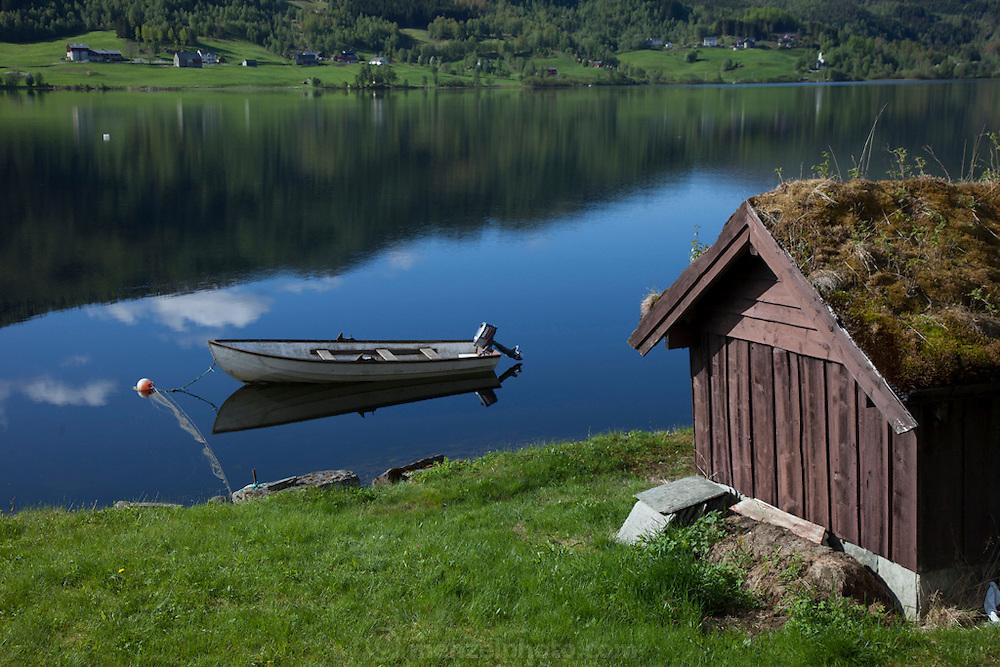 Farm land near Voss, Norway.