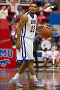 DALLAS, TX - JANUARY 6:  Nick Russell #12 of the SMU Mustangs brings the ball up the court against the Tulsa Golden Hurricane on January 6, 2013 at Moody Coliseum in Dallas, Texas.  (Photo by Cooper Neill/Getty Images) *** Local Caption *** Nick Russell