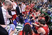 DESCRIZIONE : Campionato 2014/15 Dinamo Banco di Sardegna Sassari - Olimpia EA7 Emporio Armani Milano Playoff Semifinale Gara6<br /> GIOCATORE : Luca Banchi<br /> CATEGORIA : Allenatore Coach Time Out<br /> SQUADRA : Olimpia EA7 Emporio Armani Milano<br /> EVENTO : LegaBasket Serie A Beko 2014/2015 Playoff Semifinale Gara6<br /> GARA : Dinamo Banco di Sardegna Sassari - Olimpia EA7 Emporio Armani Milano Gara6<br /> DATA : 08/06/2015<br /> SPORT : Pallacanestro <br /> AUTORE : Agenzia Ciamillo-Castoria/L.Canu