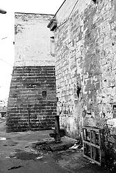Retro della chiesa del Canneto al porto di Gallipoli (LE), Italia