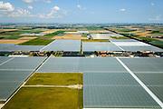 Nederland, Noord-Holland,  Gemeente Wieringermeer, 05-08-2014; Agriport A7, bedrijventerrein voor agribusiness en logistiek. Kassen voor glastuinbouw.<br /> Agribusiness Agriport A7, agribusiness and logistics business park with greenhouses.<br /> luchtfoto (toeslag op standard tarieven);<br /> aerial photo (additional fee required);<br /> copyright foto/photo Siebe Swart