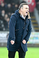 Football - 2017 / 2018 Premier League - Swansea City vs. Tottenham Hotspur<br /> <br /> Swansea City manager Tomas Carvalhal looks frustrated on the touchline as swansea squander an attack  at The Liberty Stadium.<br /> <br /> COLORSPORT/WINSTON BYNORTH