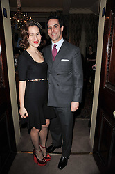 CHARLOTTE DELLAL and her husband MAXIM CREWE at a screening of Charlotte Olympia's new film 'To Die For' held at Mark's Club, Charles Street, London W1 on 22nd February 2011.