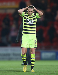 Yeovil Town's Luke Ayling shows his disappointment at the defeat - Photo mandatory by-line: Matt Bunn/JMP - Tel: Mobile: 07966 386802 22/11/2013 - SPORT - Football - Doncaster - Keepmoat Stadium - Doncaster Rovers v Yeovil Town - Sky Bet Championship