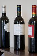 The chateau red wine between L'Opera and La Syrah. Chateau Villerambert-Julien near Caunes-Minervois. Minervois. Languedoc. France. Europe. Bottle.
