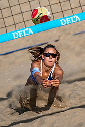 25-08-2019 NED: DELA NK Beach Volleyball, Scheveningen<br /> Last day NK Beachvolleyball / Puk Stubbe