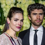 NLD/Amsterdam//20170309 - 5 jarig bestaan Vogue, Benja Bruijning en partner Anna Drijver