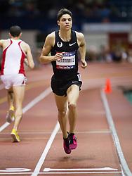 Millrose Games indoor track and field: Matthew Centrowitz, men's mile, warmup, Nike Matthew Centrowitz, 5000 m,